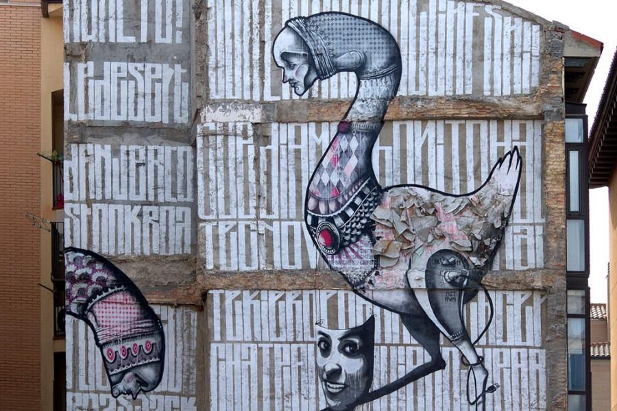 Grafitis en Zaragoza