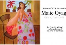 Exposición de pintura de Maite Oyaga en Zaragoza