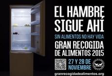 Colabora con la Gran Recogida de Alimentos, el 27 y 28 de Noviembre